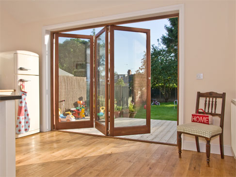 Folding Sliding Doors - Market Harborough :: The beauty of these doors is the ability to open fully with ease when wanted.