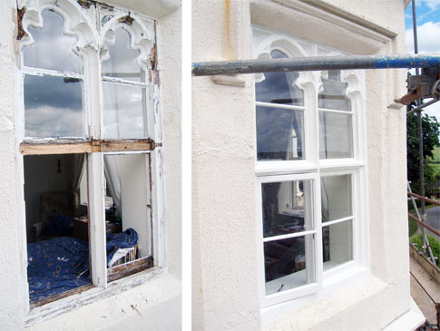 Restoration - Windows - Belton, Rutland :: These before and after snaps show the benefit a bit of restoration does.