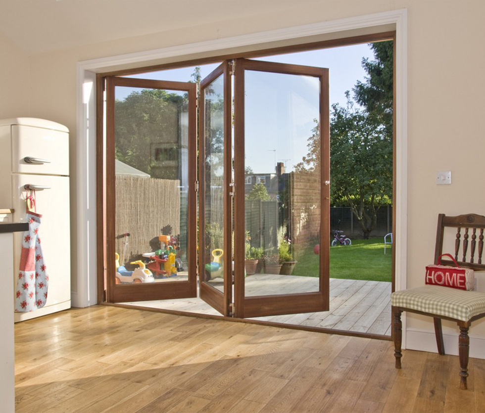 Bifold kitchen doors